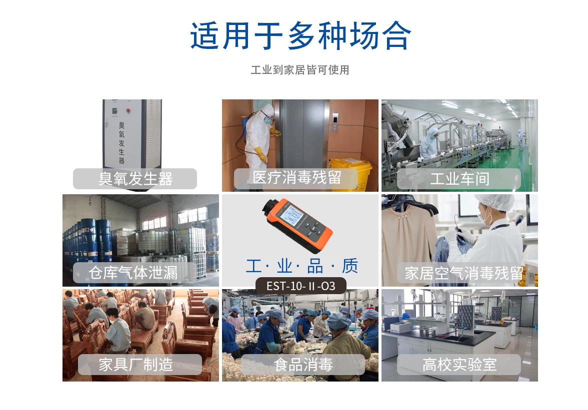 便携式臭氧检测仪EST-10-Ⅱ-O3应用场合