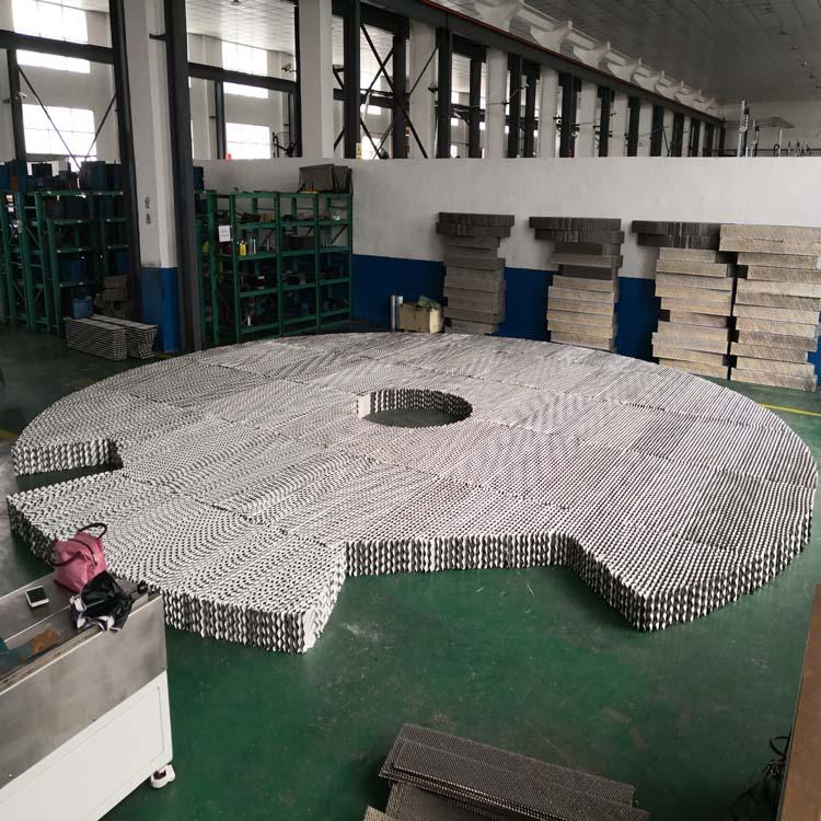 250Y不锈钢孔板波纹填料 萍乡澳荣